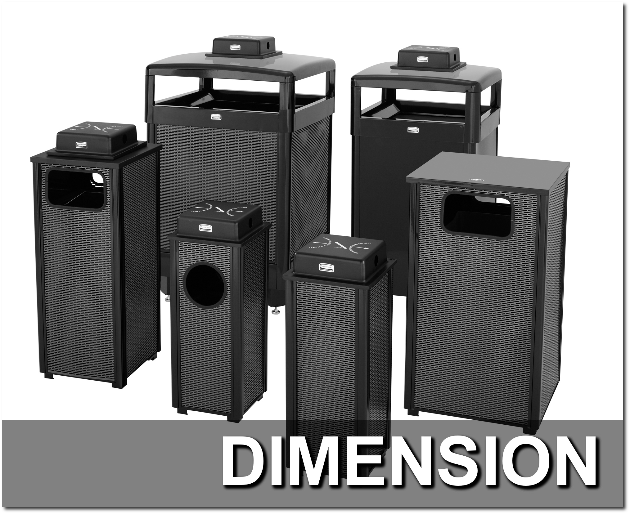 Dimension Series Trash Receptacles