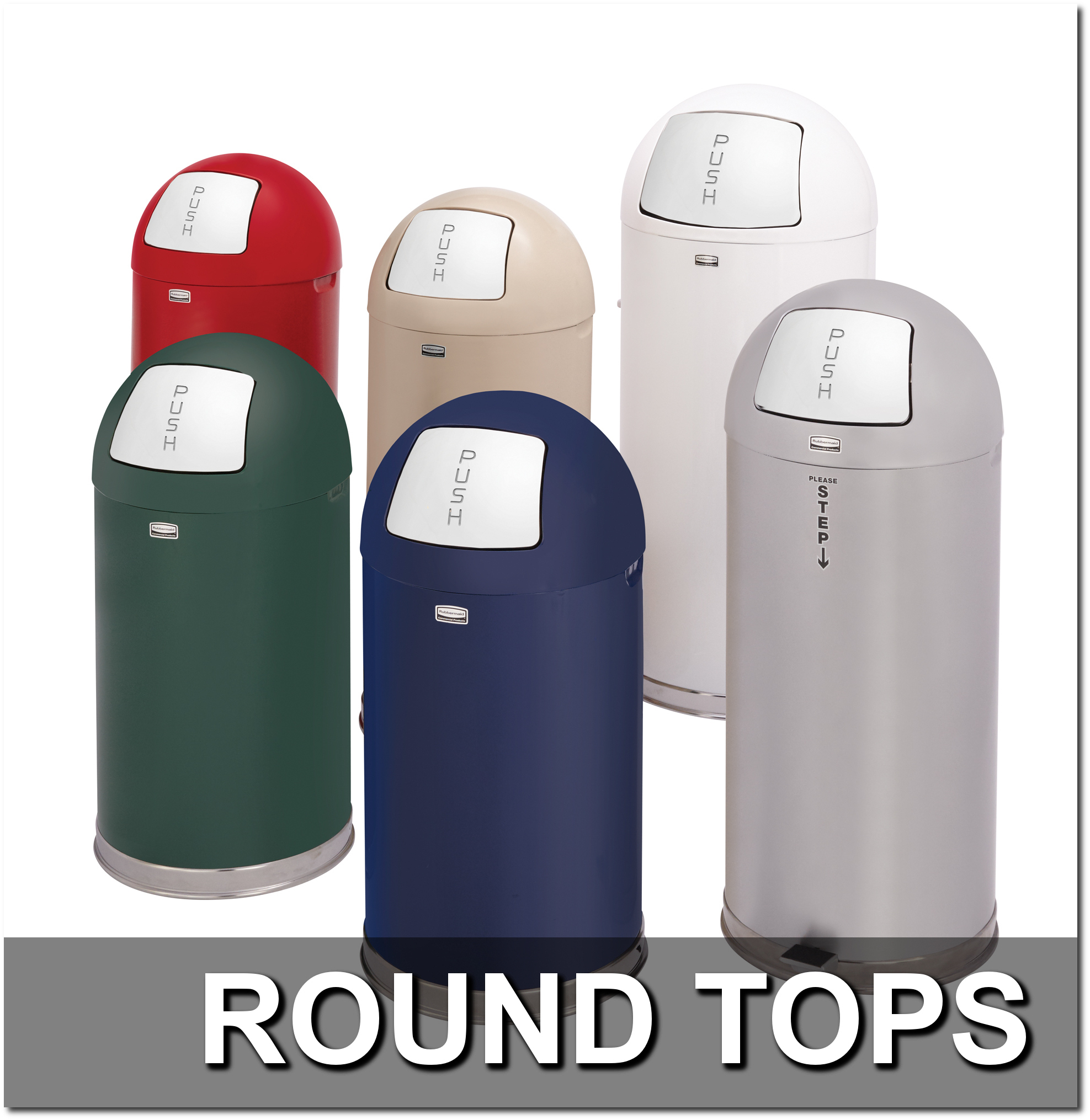 Round Top Trash Receptacles