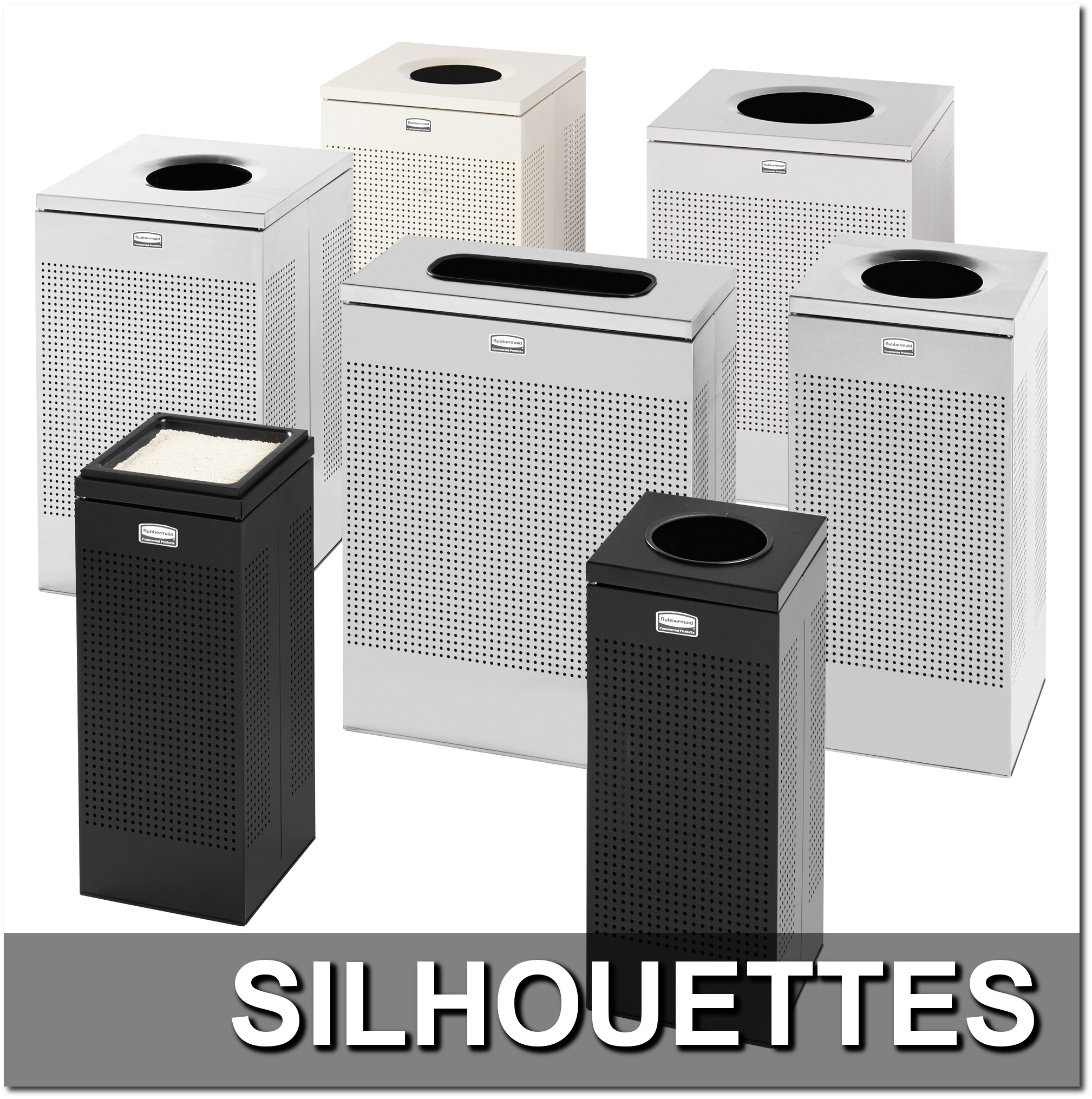 Silhouettes Collection Trash Receptacles
