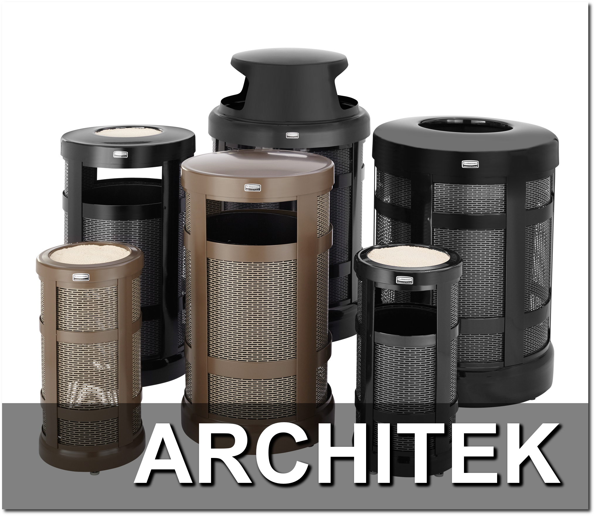 Architek Series Trash Receptacles Overview