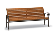 Ashley Bench with Faux-Wood Seat