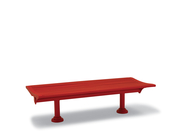 BH1429  Burns Harbor Collection 6' Flat Bench with Horizontal Slats