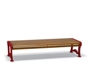 BU1412C  Butler 6' Faux-Wood Flat Bench (Portable/Surface Mounted)
