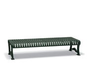 BU1413C  Butler 6' Slat Flat Bench (Portable/Surface Mounted)