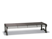 BU1414C  Butler 6' Steel Rod Flat Bench (Portable/Surface Mounted)
