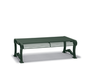 BU8114C  Butler 4' Steel Rod Flat Bench (Portable/Surface Mounted)