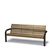 CA1112I  Camden 6' Faux-Wood Contour Bench with Armrests (Inground Mounted)