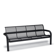 CA1114I  Camden 6' Steel Rod Contour Bench with Armrests (Inground Mounted)