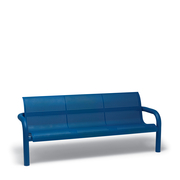 CA1116I  Camden 6' Round Perforation Contour Bench with Armrests (Ingroud Mounted)