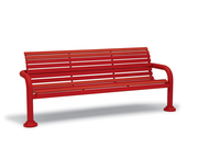 CA1119I  Camden 6' Horizontal Slat Contour Bench with Armrests (Inground Mounted)