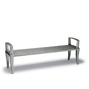 DE1413C  Dewart Collection 6' Flat Bench with Steel Slat Seat (Portable/Surface Mounted)