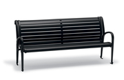 OX1119  Oxford Collection 6' Contour Bench with Horizontal Seat