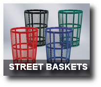 Street Baskets Trash Receptacles