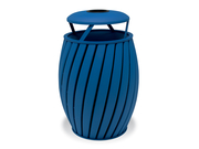 TA3A3GP  UrbanScape Style A Wide Slat 32 Gallon Trash Receptacle with Ash Bonnet Lid - Powder Coat Finished