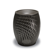 ta3f33p  UrbanScape Style A Spiral Slat 32 Trash Receptacle with Flat Top Lid