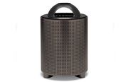 TE3C31P  UrbanScape Style E Square Perforated Steel 32 Gallon Trash Receptacle with Ash Dome Top