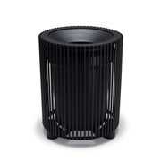 TE3F34P  UrbanScape Style E 32 Gallon Steel Rod Trash Receptacle with Flat Top Lid