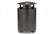 TE3S31P  UrbanScape Style E Square Perforated Steel Receptacle with Recycling Lid
