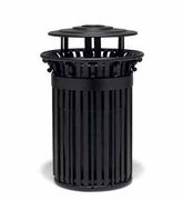 TI3A33P  UrbanScape Style I 32 Gallon Trash Receptacle with Ash Bonnet Top & Scrolls