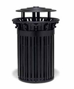 TI3B33P  UrbanScape Style I 32 Gallon Trash Receptacle with Bonnet Top & Scrolls