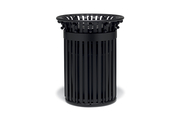 Ti3F33P  UrbanScape Style I 32 Gallon Trash Receptacle with Open Flat Top & Scolls