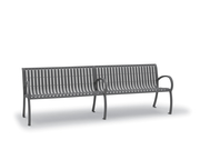 Wi0113C  Winchester Collection 8' Contour Bench with Vertical Slat Seat (Portable/Surface Mounted)