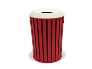 WO3F39P  Woodridge Collection 32 Gallon Trash Receptacle with Flat Top Lid - Powder Coat Finish