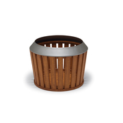 WO7532P  Woodridge Collection Planter with Faux-Wood Finisht