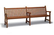 YO0112C  Yorktown Collection 8' Straight Back Bench with Faux-Wood Finish (Portable/Surface Mounted)
