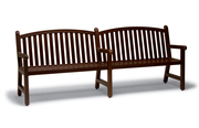 YO0212C  Yorktown Collection 8' Bench with Arched Back - Faux Wood Finish (Portable/Surface Mounted)