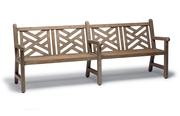 YO0312C  Yorktown Collection 8' Chippendale Bench with Faux-Wood Finish (Portable/Surface Mounted)