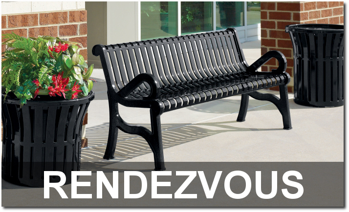 Rendezvous Collection Upscale Outdoor Commercial Site Furnishings