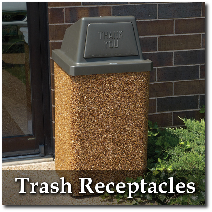 Structure Trash Receptacles