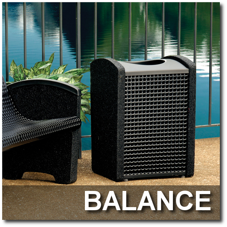 Balance Collection Stone Trash Receptacles