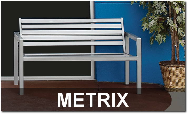 Metrix Collection Contemporary Outdoor Commercial Site Furnishings