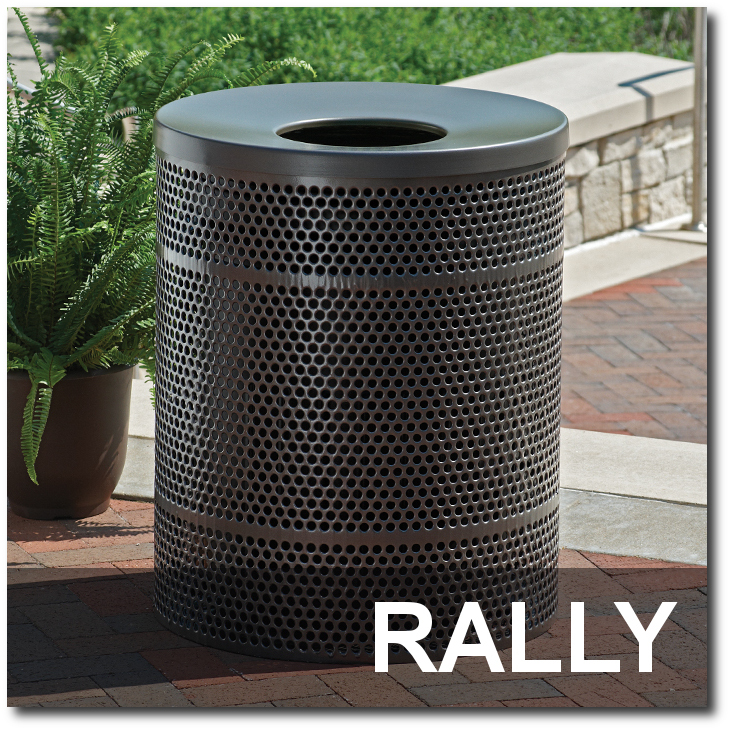 Rally Collection Steel Trash Receptacles