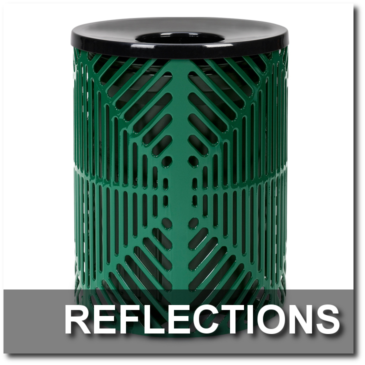 Reflections Collection Steel Trash Receptacles