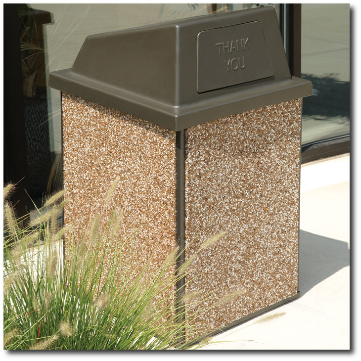 Essence 48 Gallon Stone Trash Receptacle