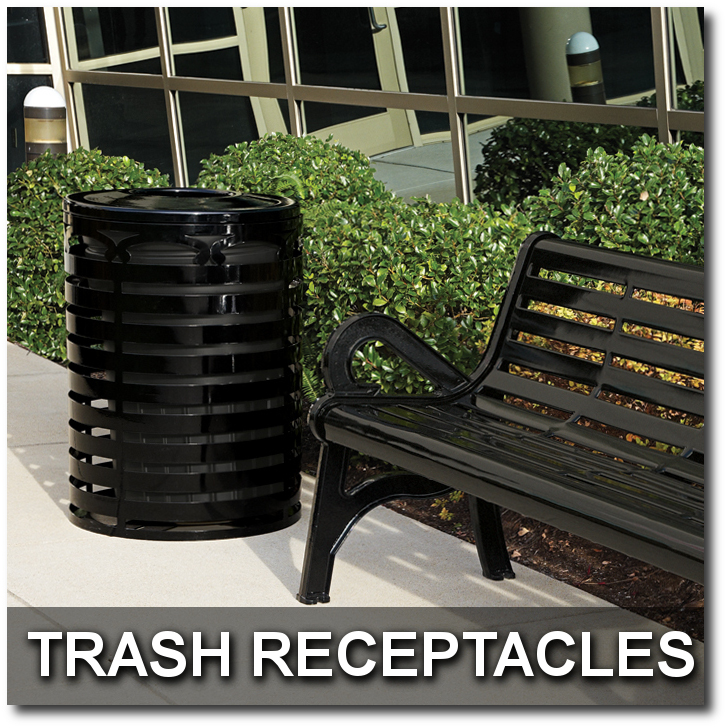 Horizon Collection Trash Receptacle