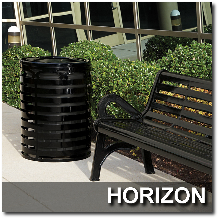 Horizon Collection Trash Receptacles