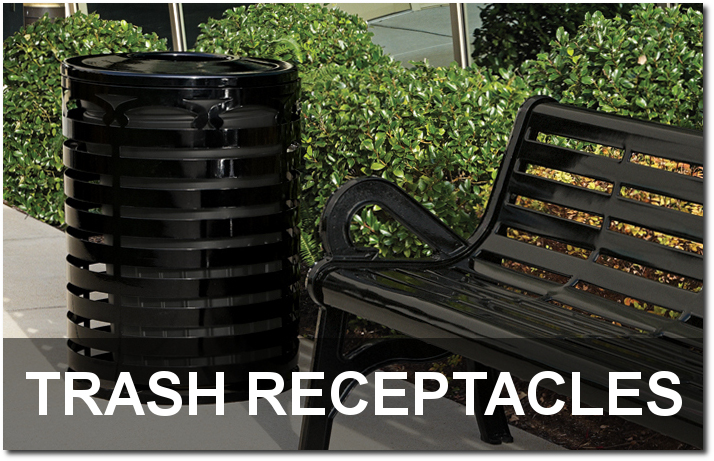Outdoor Commercial Trash Receptacles