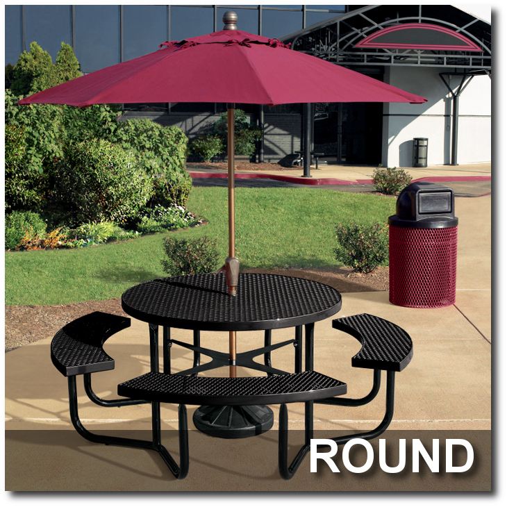Picnic Tables Indoff Commercial Site Furnishings Discount Superstore - Commercial table umbrellas