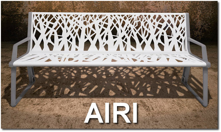 Airi Collection Contemporary Outdoor Site Furnishings