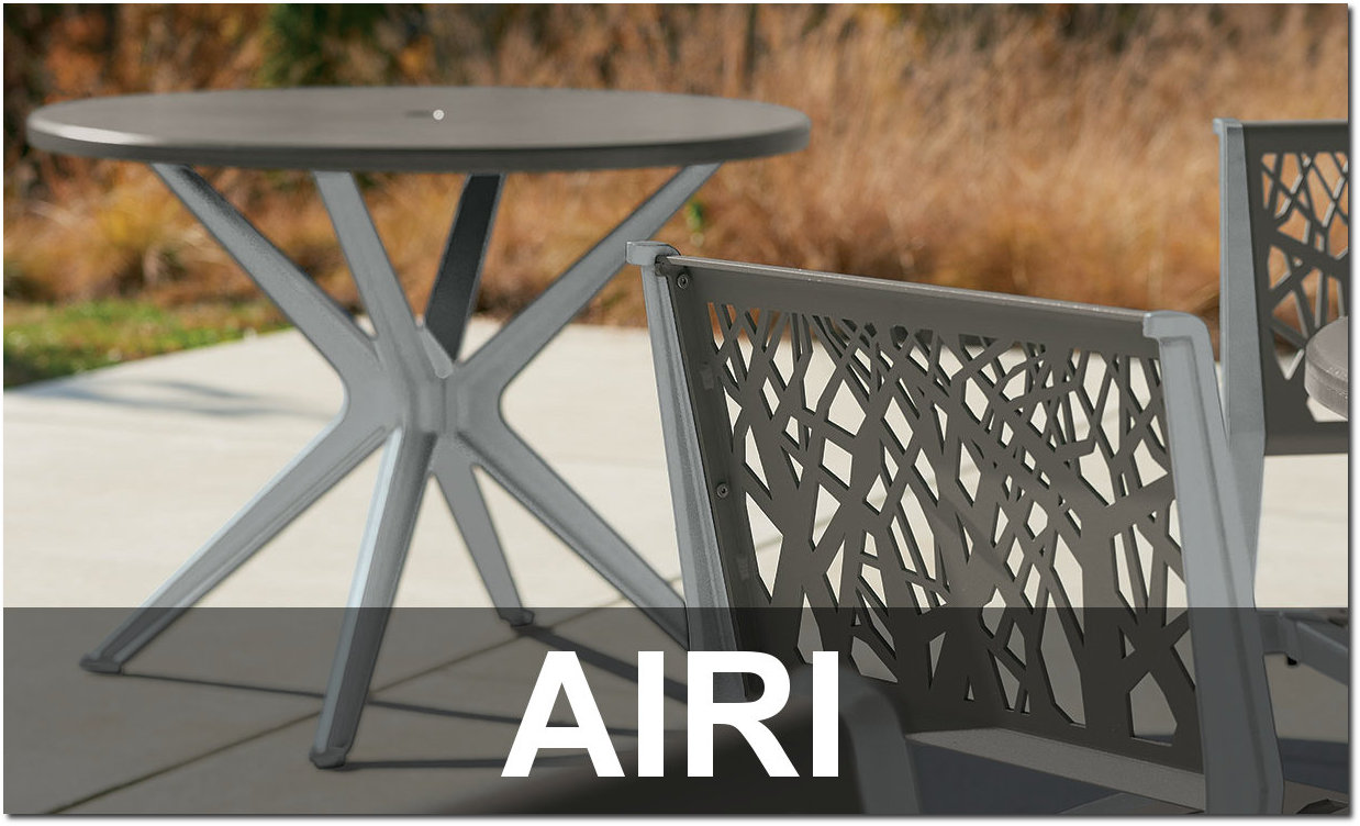 Airi Collection Contemporary Outdoor Dining Sets