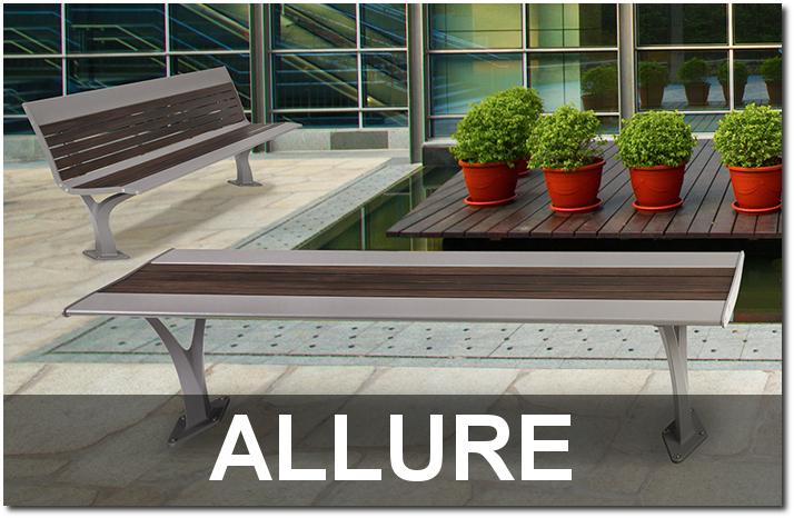 Allure Collection Contemporary Commercial Park Benches
