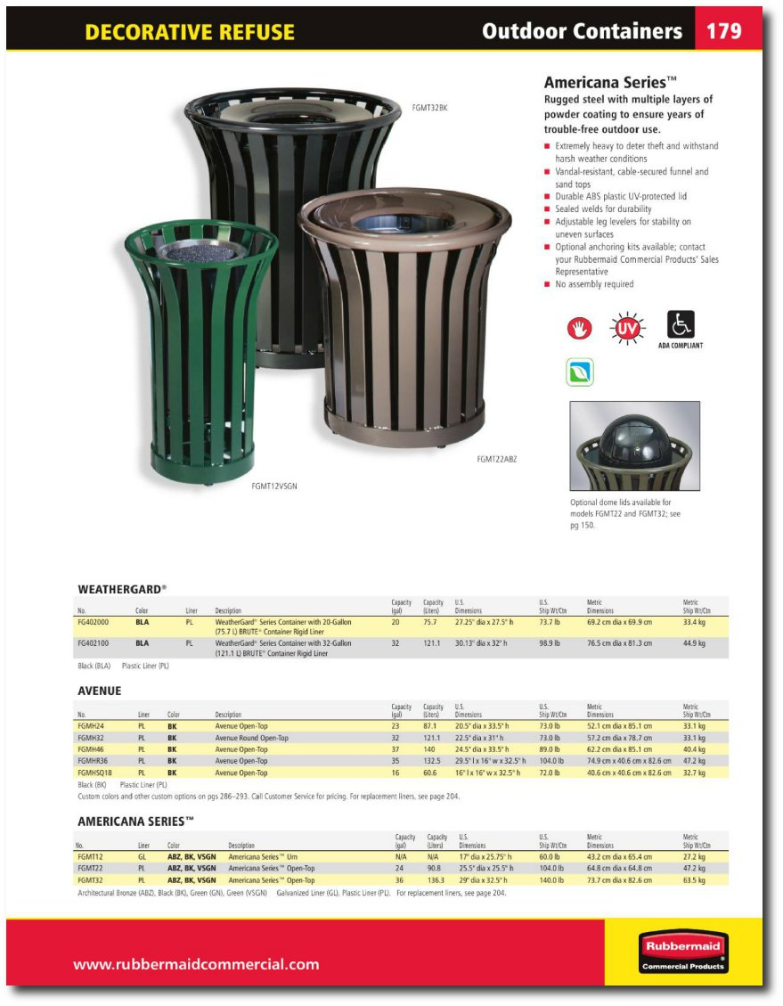 American Series Catalog Page