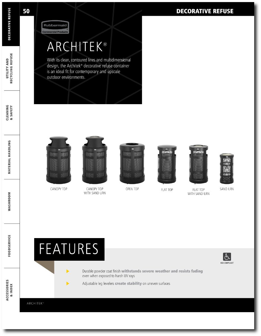 Architek Series Catalog Page