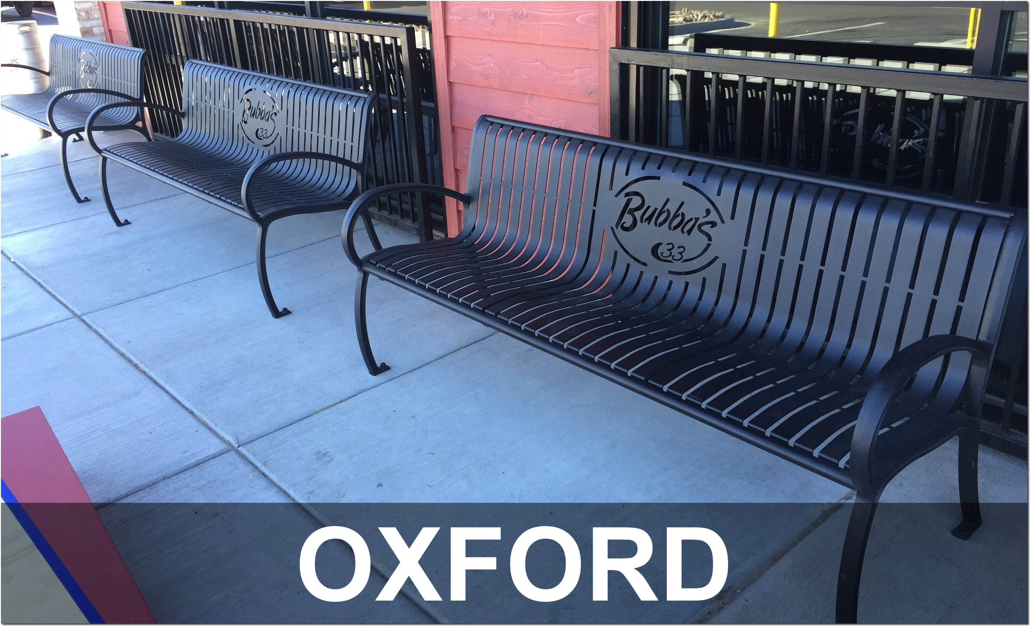 Oxford Collection Aluminum Outdoor Commercial Park Benches