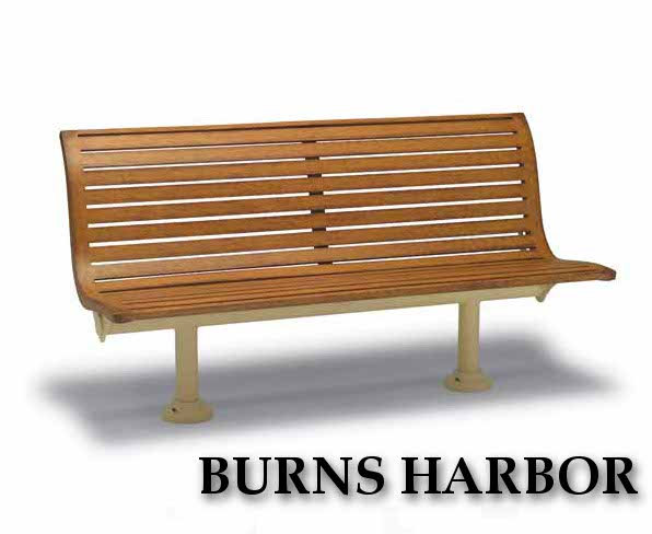 Burns Harbor Collection Park Benches