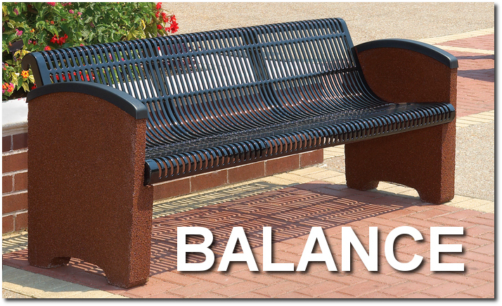 Balance Collection Stone Accented Park Benches